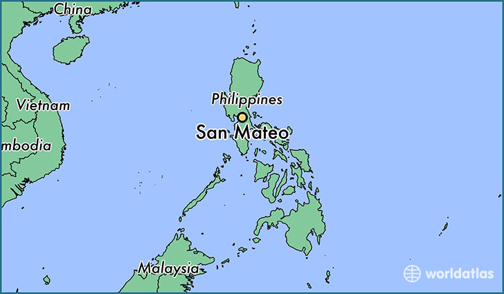map showing the location of San Mateo