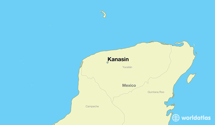 map showing the location of Kanasin