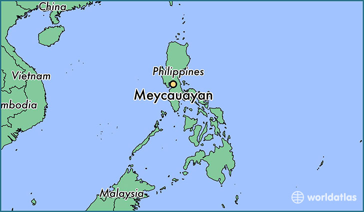 map showing the location of Meycauayan