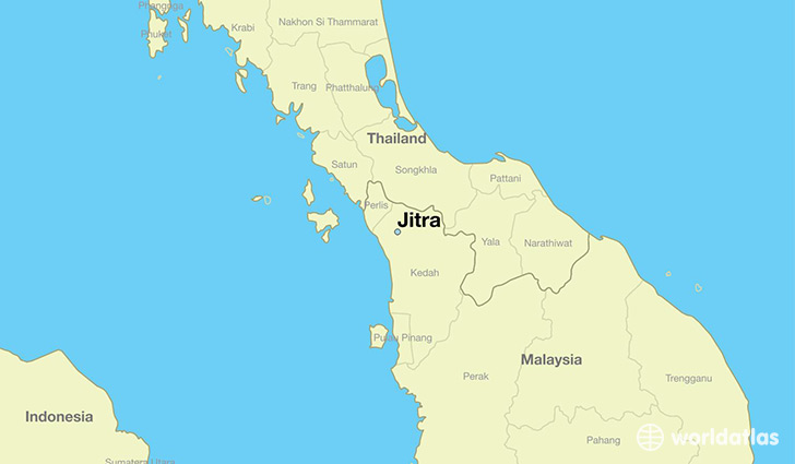 map showing the location of Jitra