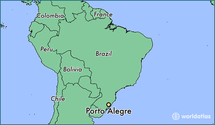 map showing the location of Porto Alegre