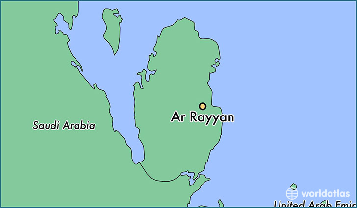 map showing the location of Ar Rayyan
