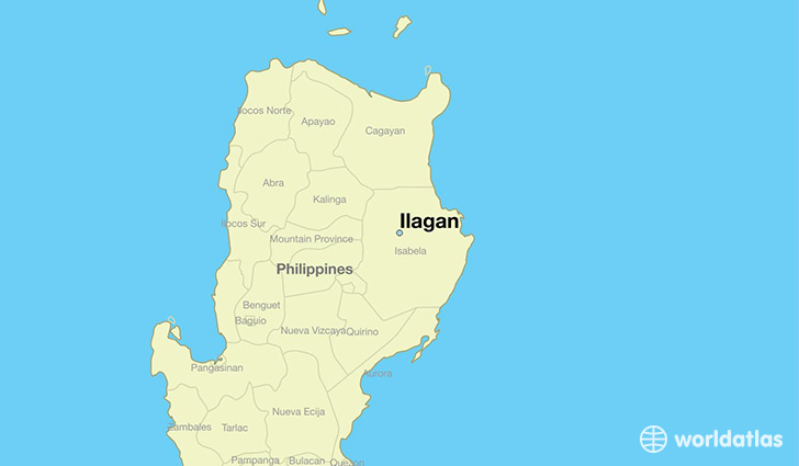 map showing the location of Ilagan
