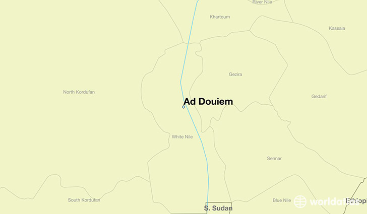 map showing the location of Ad Douiem