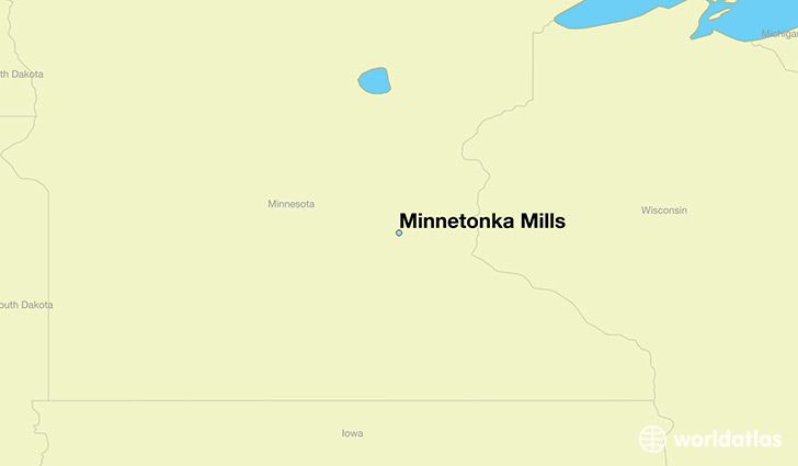 map showing the location of Minnetonka Mills