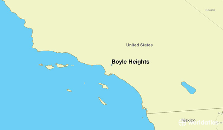map showing the location of Boyle Heights