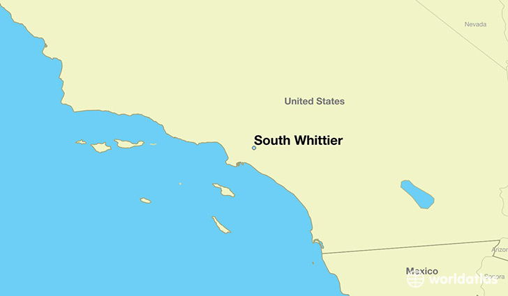 map showing the location of South Whittier