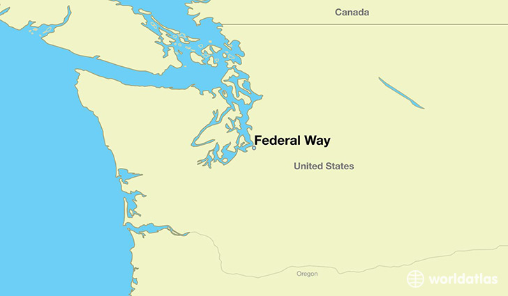 map showing the location of Federal Way