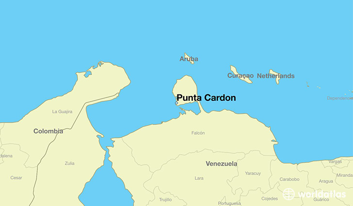 map showing the location of Punta Cardon