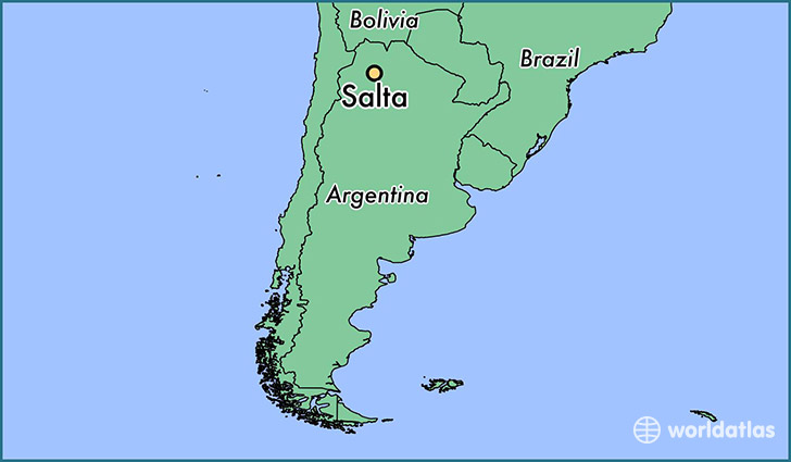 map showing the location of Salta
