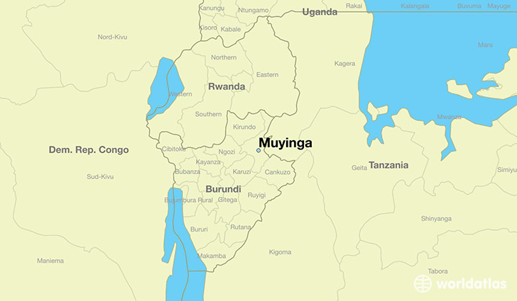map showing the location of Muyinga