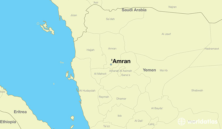 map showing the location of 'Amran