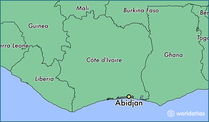 Where is Abidjan, Cote D'Ivoire? / Abidjan, Lagunes Map