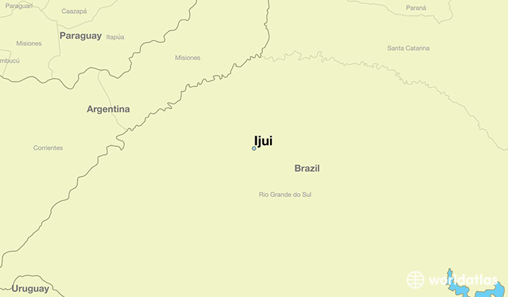 map showing the location of Ijui