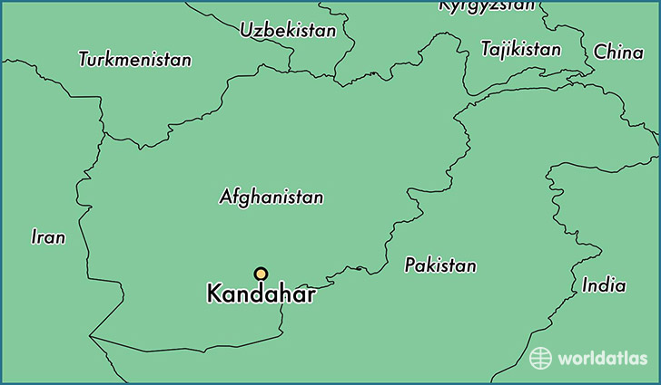 map showing the location of Kandahar