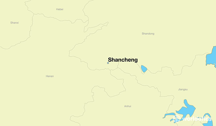 map showing the location of Shancheng
