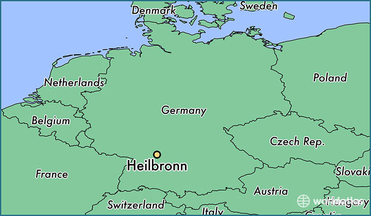 Where is Heilbronn Germany Heilbronn BadenWurttemberg Map