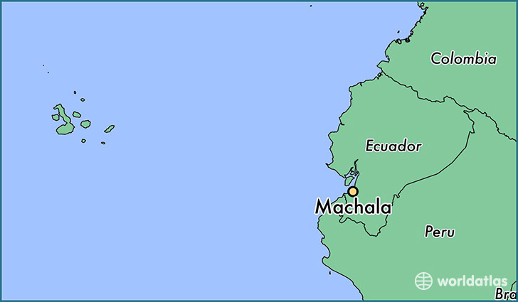 map showing the location of Machala