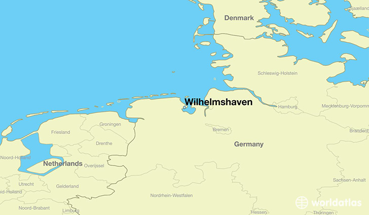 map showing the location of Wilhelmshaven