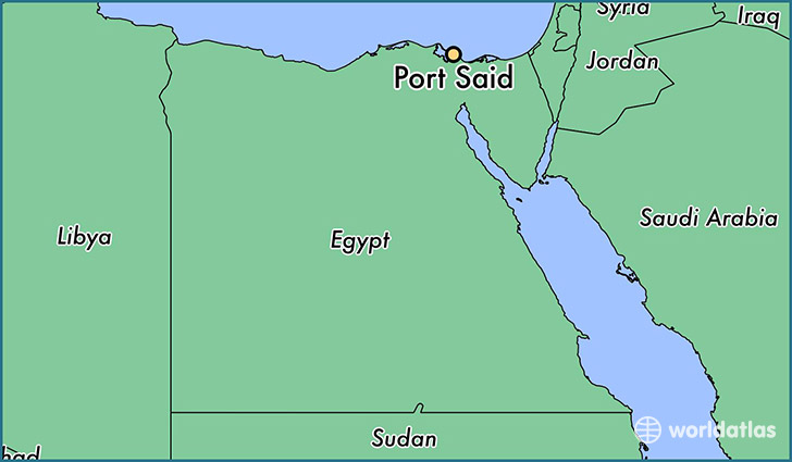 map showing the location of Port Said