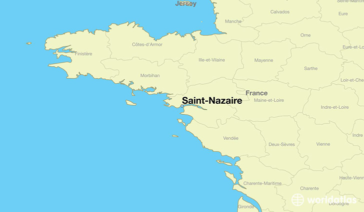 map showing the location of Saint-Nazaire