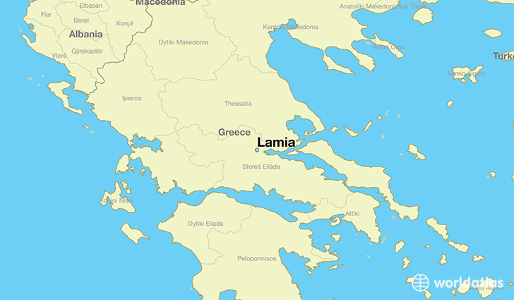 Where is Lamia Greece Lamia Central Greece Map WorldAtlascom
