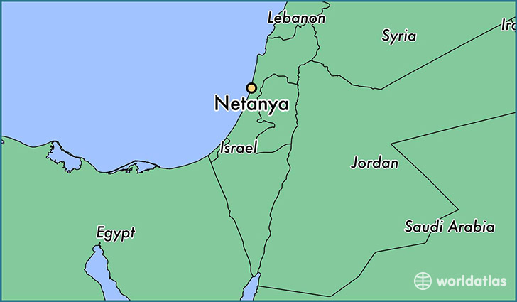 map showing the location of Netanya