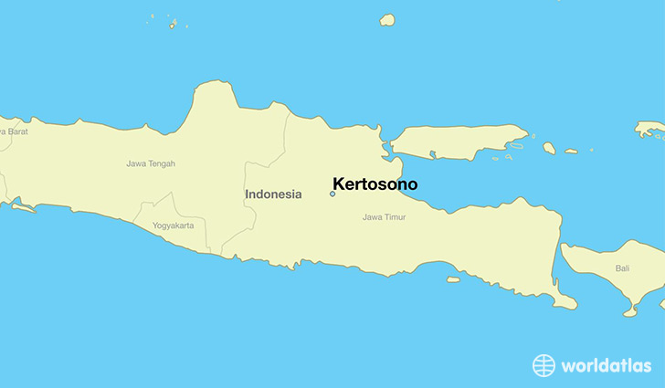 map showing the location of Kertosono