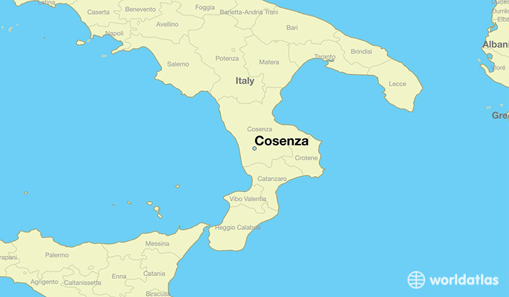 Where is Cosenza Italy Cosenza Calabria Map WorldAtlascom