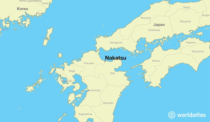 map showing the location of Nakatsu