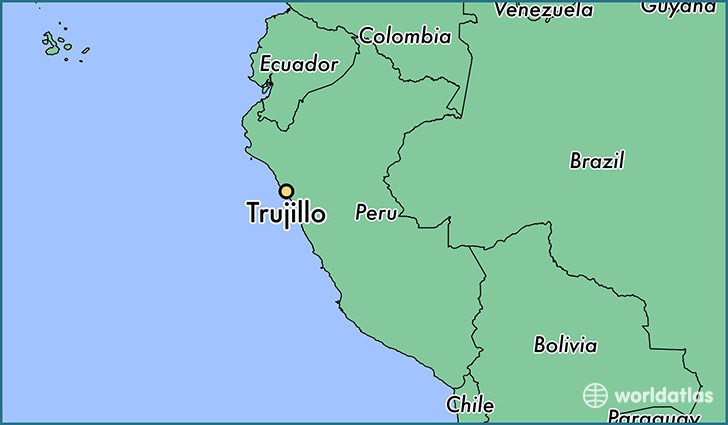 map showing the location of Trujillo