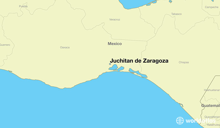 map showing the location of Juchitan de Zaragoza