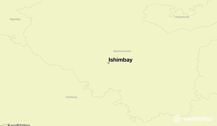 map showing the location of Ishimbay