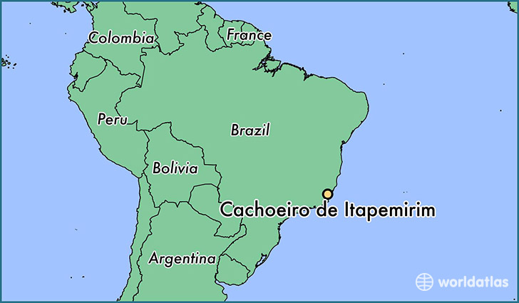 map showing the location of Cachoeiro de Itapemirim