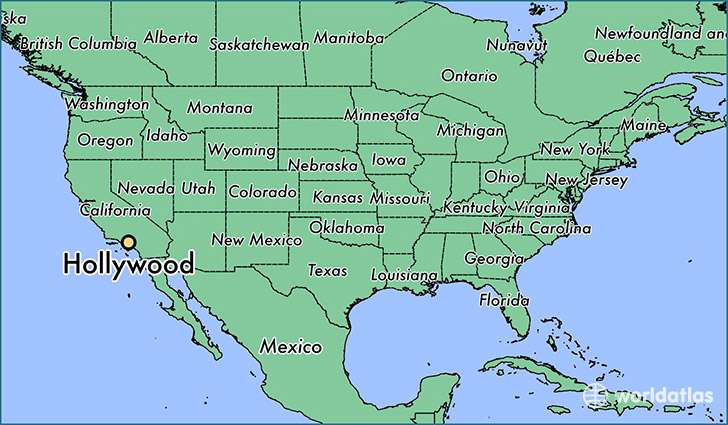 Map Of America Hollywood.Where Is Hollywood Ca Hollywood California Map Worldatlas Com