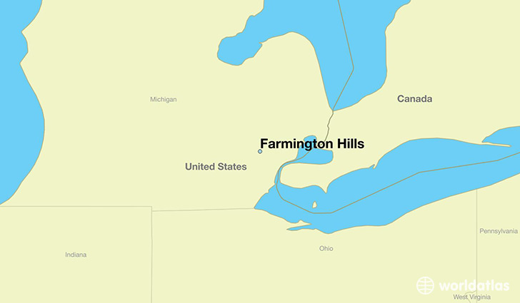 Where is Farmington Hills MI Farmington Hills Michigan Map