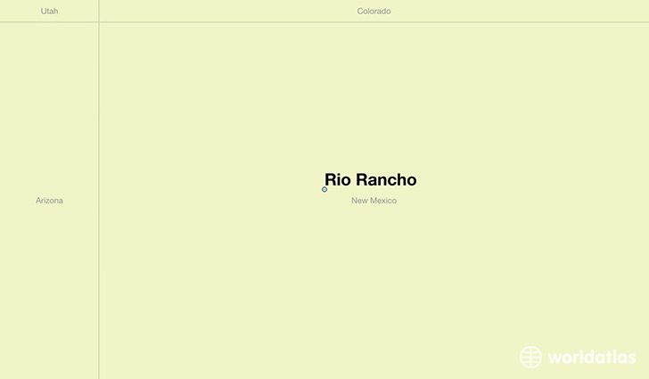 map showing the location of Rio Rancho