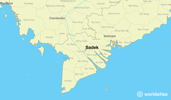 map showing the location of Sadek