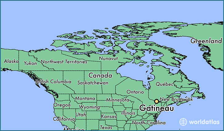 map showing the location of Gatineau