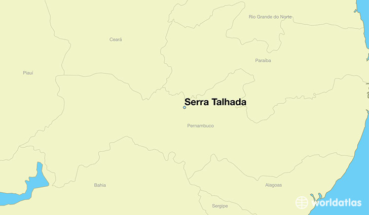 map showing the location of Serra Talhada
