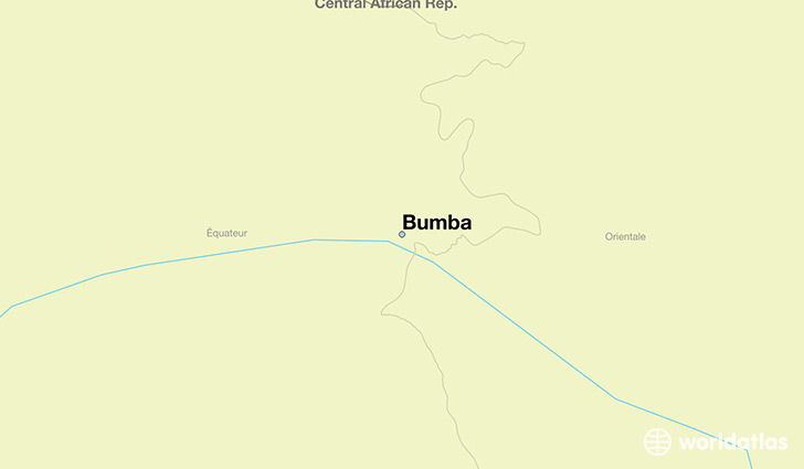 map showing the location of Bumba