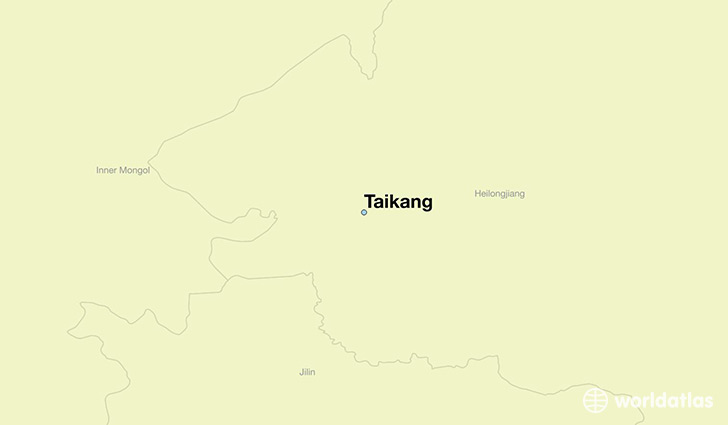map showing the location of Taikang