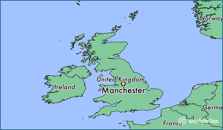 United Kingdom On The World Map.Where Is Manchester England Manchester England Map Worldatlas Com