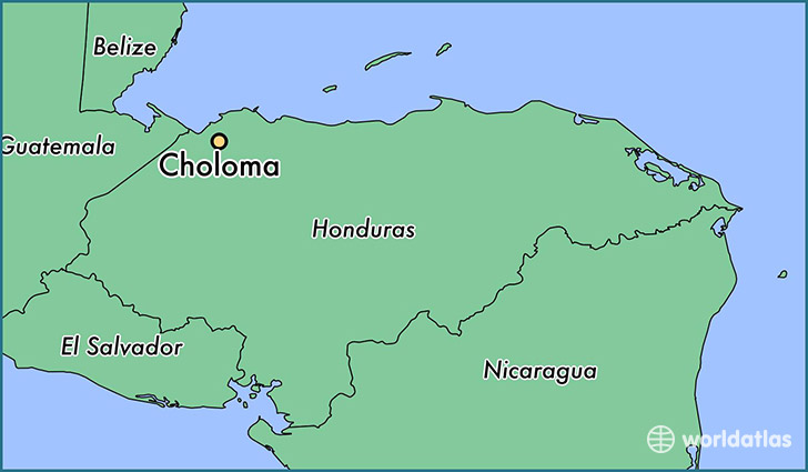 map showing the location of Choloma