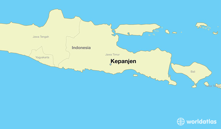 map showing the location of Kepanjen
