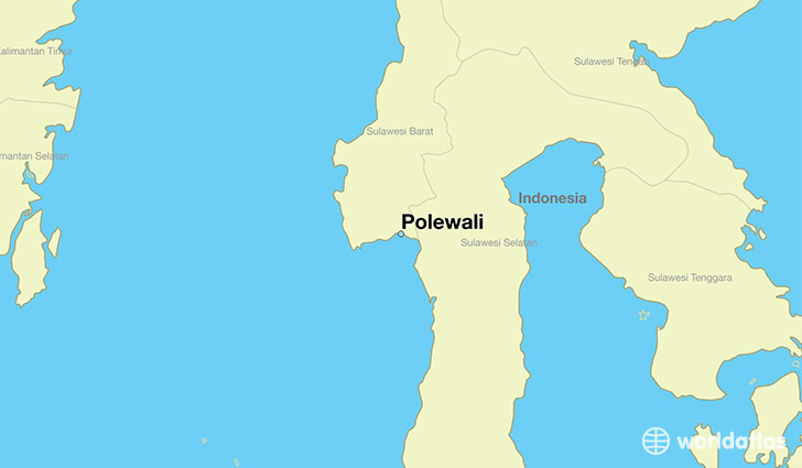 map showing the location of Polewali