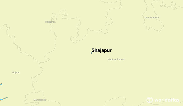 map showing the location of Shajapur
