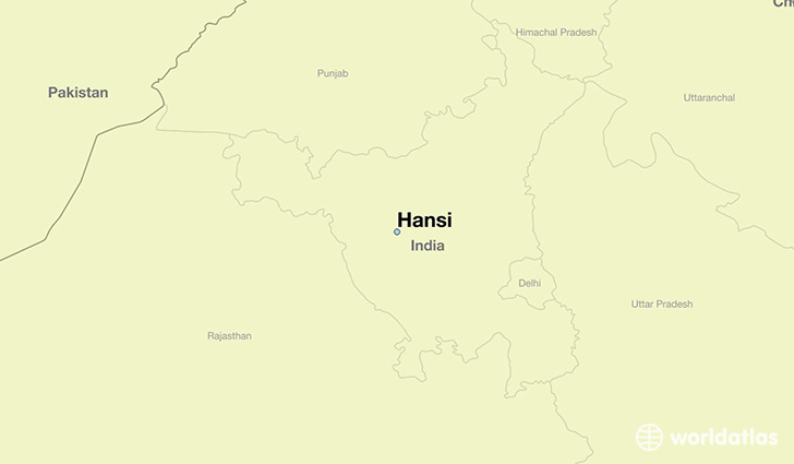 map showing the location of Hansi