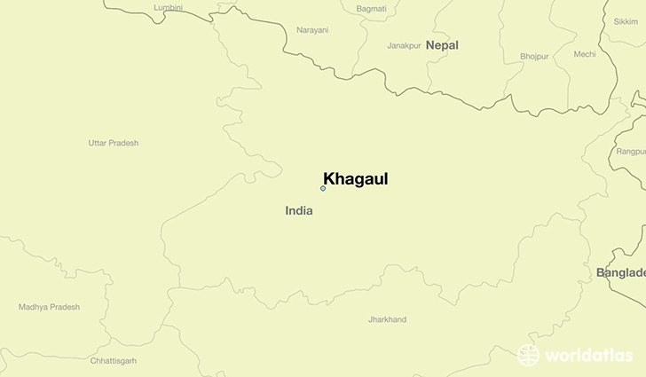 map showing the location of Khagaul