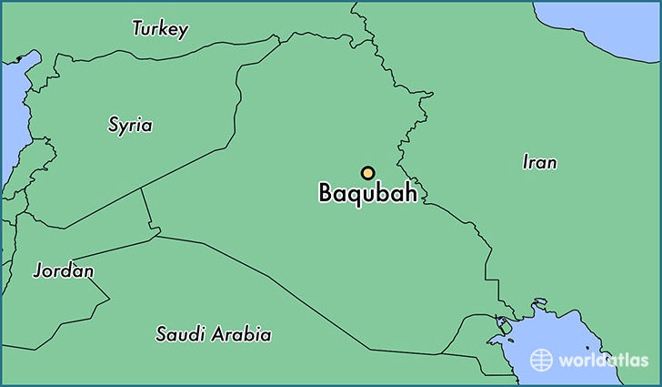 map showing the location of Baqubah